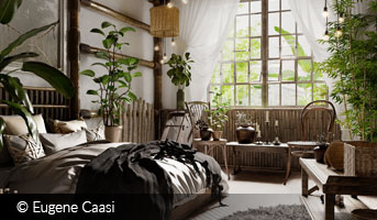 eugeni caasi tropical inspired bedroom interior